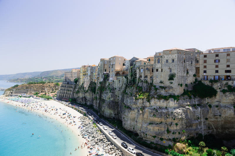 High view of Tropea town - Calabria, Italy royalty free stock image