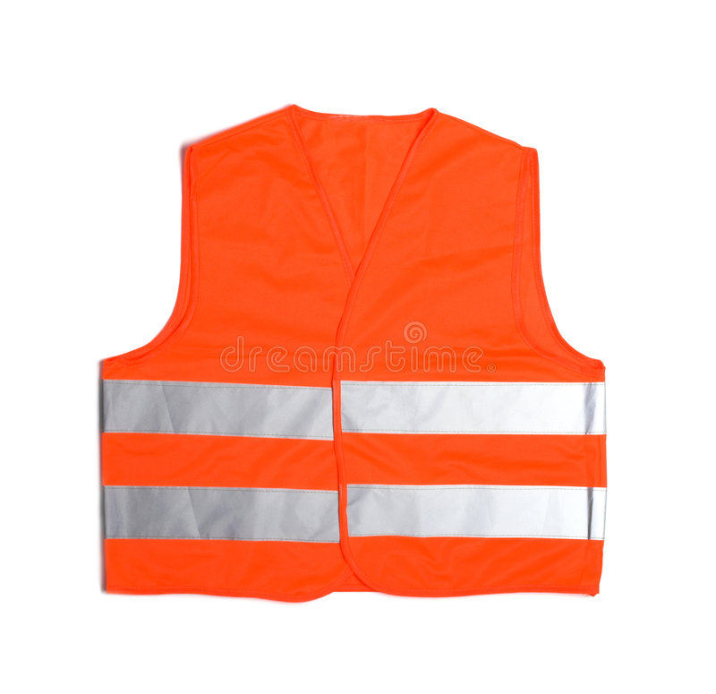 High visibility vest on white stock images