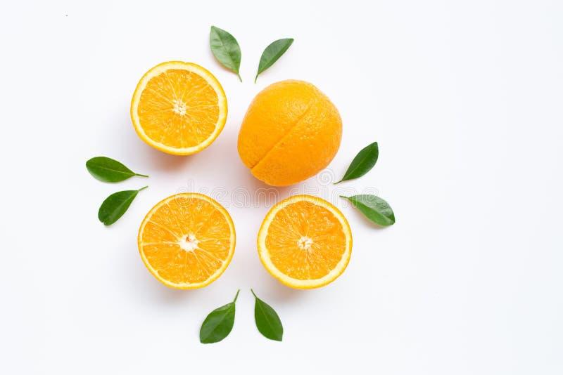 High vitamin C. Fresh orange citrus fruit royalty free stock photography