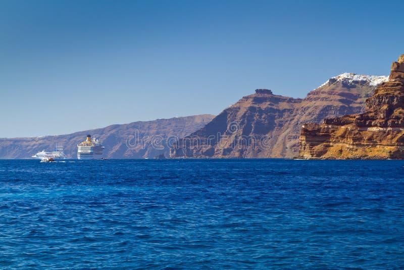 Download High Volcanic Cliff Of Santorini Island Stock Photo - Image: 26805536