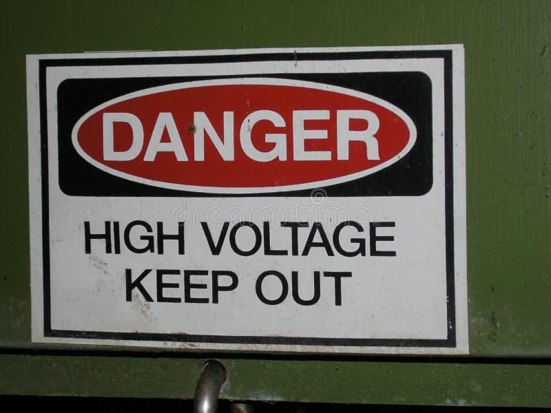 High Voltage stock photo