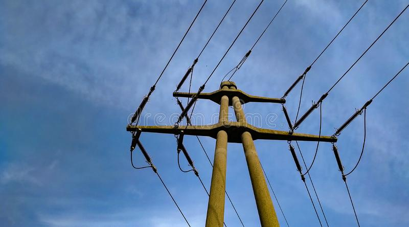 High voltage cables and wires royalty free stock images