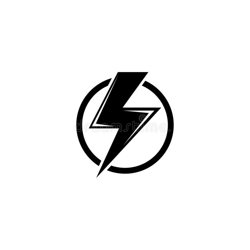 High Voltage, Electric Danger, Warning Flat Vector Icon royalty free illustration