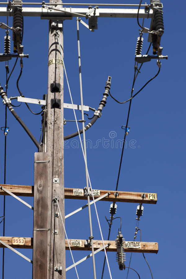 Download High Voltage Electric Pole stock image. Image of label - 17965493