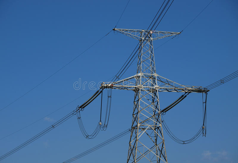 Download High-voltage electric post stock image. Image of named - 34956597