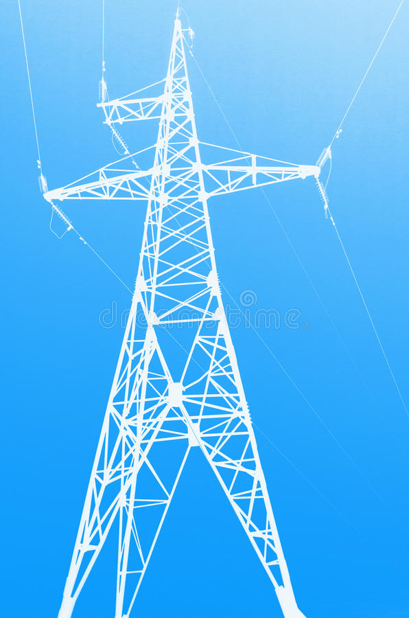 High voltage electric tower stock illustration