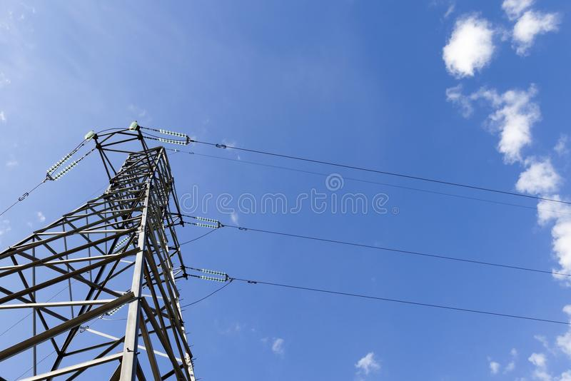 High-voltage electricity royalty free stock photo