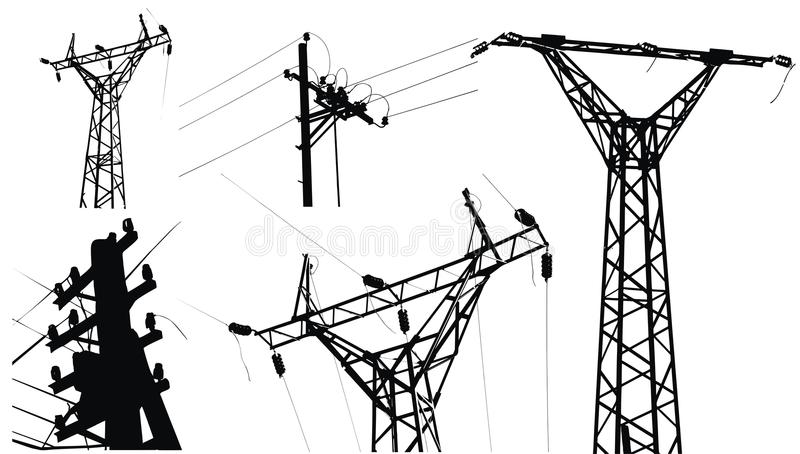 Download High Voltage Electricity Pole Stock Vector - Image: 10755816