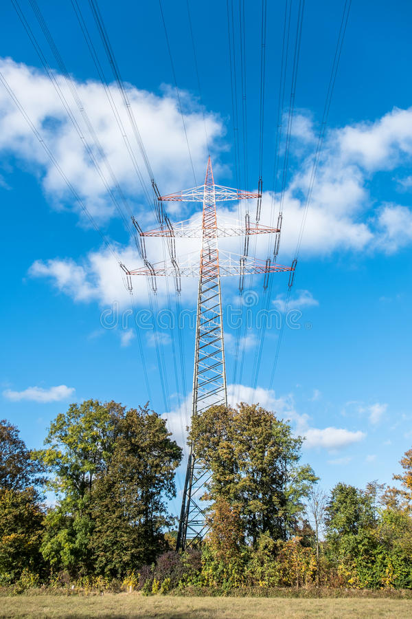 Download High Voltage Electricity Pylon Stock Photo - Image: 83704730