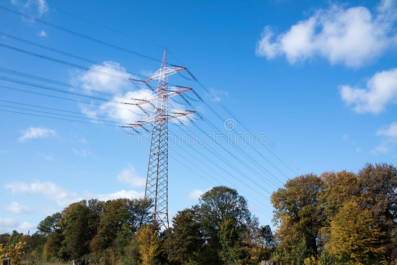 Download High Voltage Electricity Pylon Stock Photo - Image: 83706078