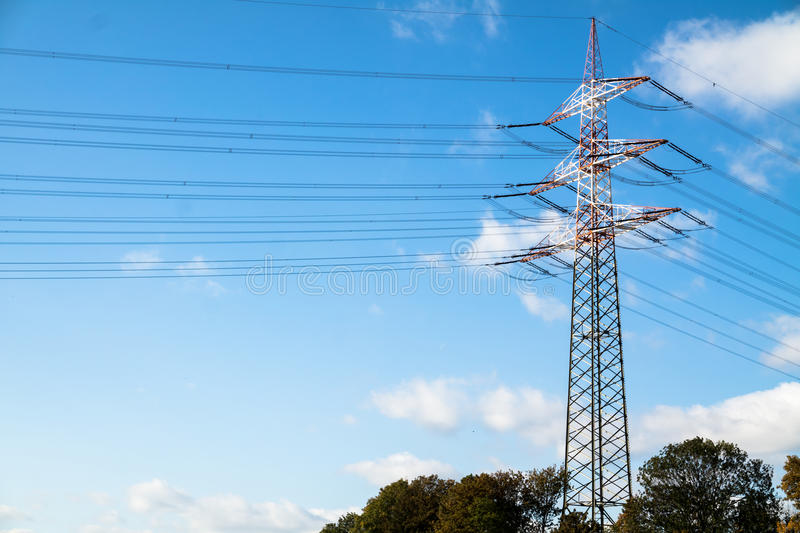Download High Voltage Electricity Pylon Stock Photo - Image: 83706130