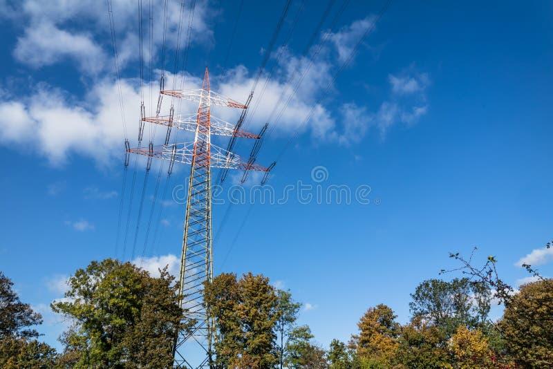 Download High Voltage Electricity Pylon Stock Photo - Image: 83706207