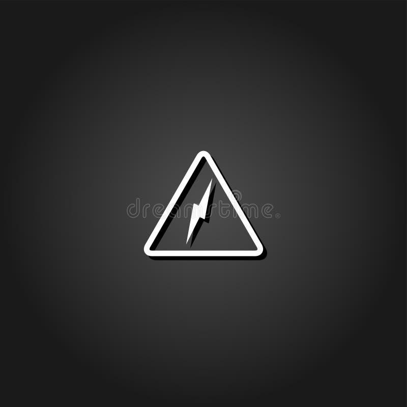 High voltage icon flat vector illustration