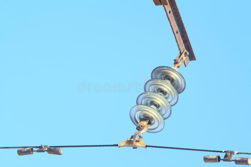 High voltage insulator royalty free stock image