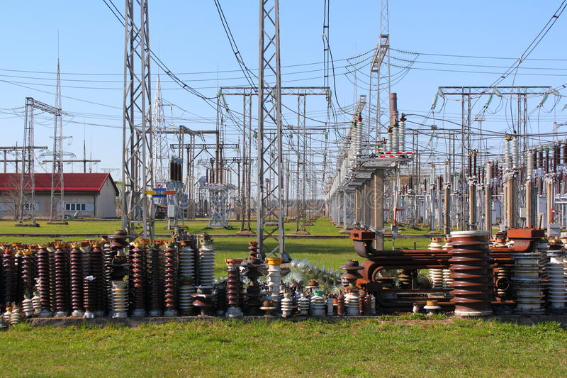 Download High voltage insulators stock photo. Image of power, yard - 22621196