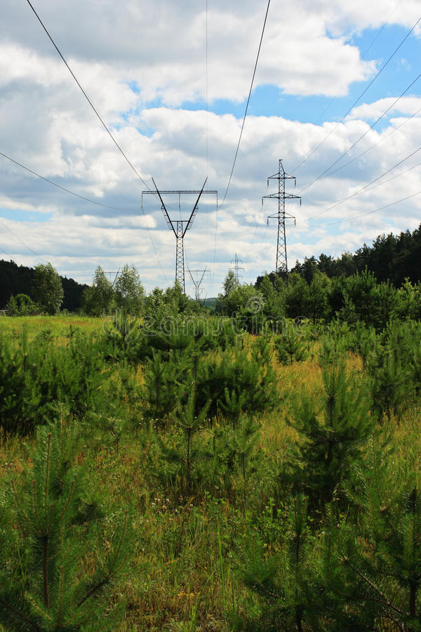 Download High voltage line stock image. Image of grass, mast, supply - 14856265