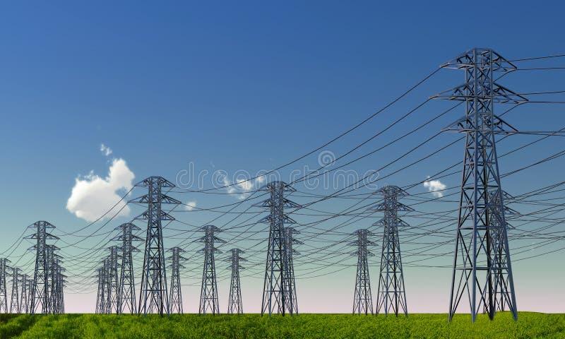 Download High-voltage line stock illustration. Image of nobody - 21889953