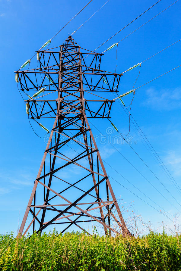 Download High Voltage Line And Blue Sky Royalty Free Stock Photos - Image: 31786138