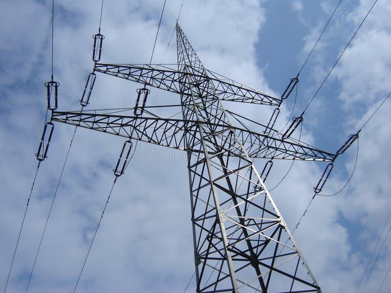 High voltage line pylon stock photo