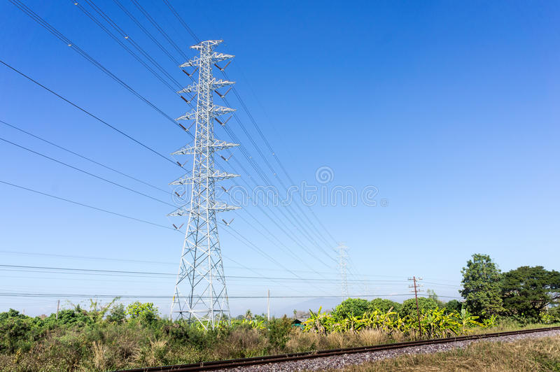 High voltage pole royalty free stock photo