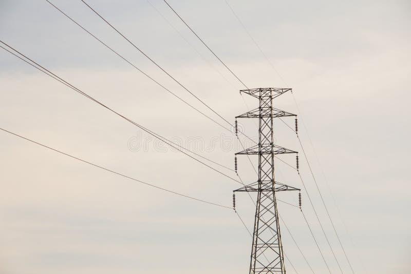 High voltage pole. stock photo