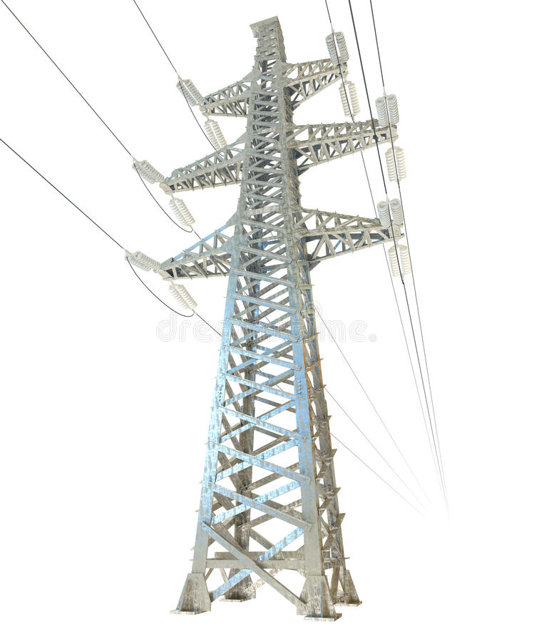 Download High voltage post stock illustration. Image of energy - 28300559