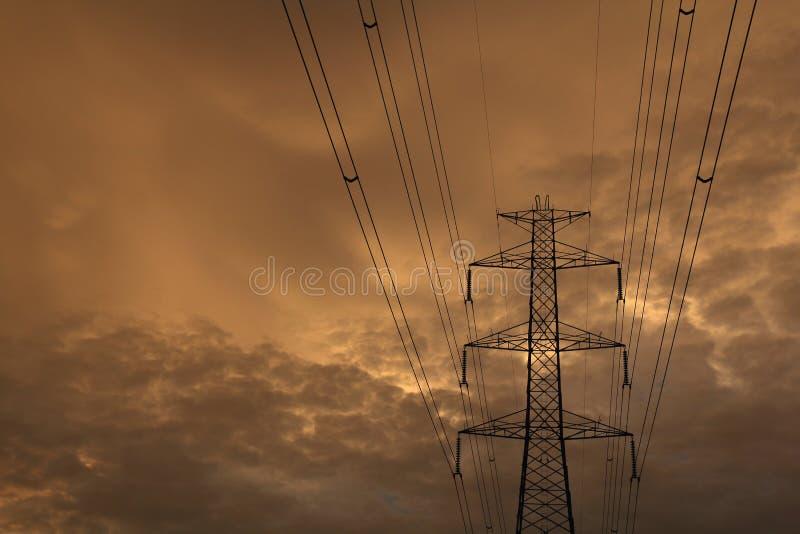 Download High Voltage Post Sky Background. Stock Image - Image: 25886331
