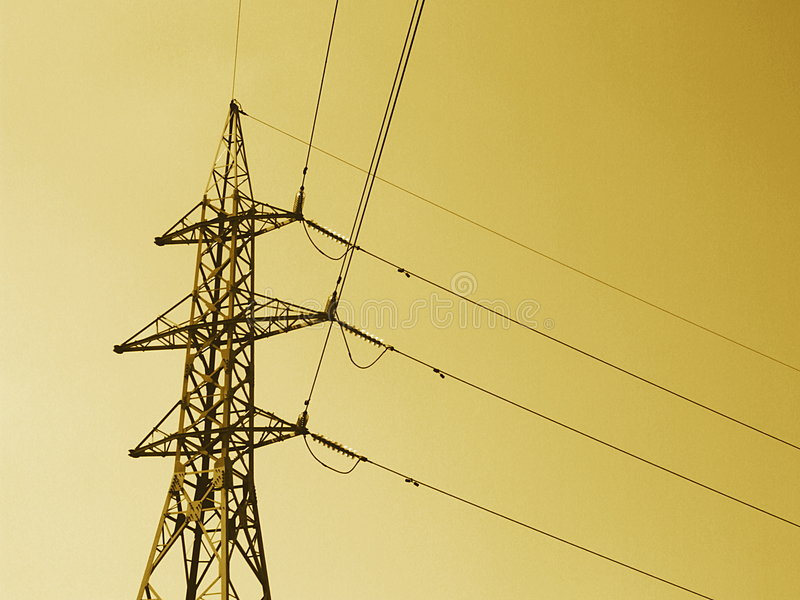 High Voltage Power Line 2 Stock Image