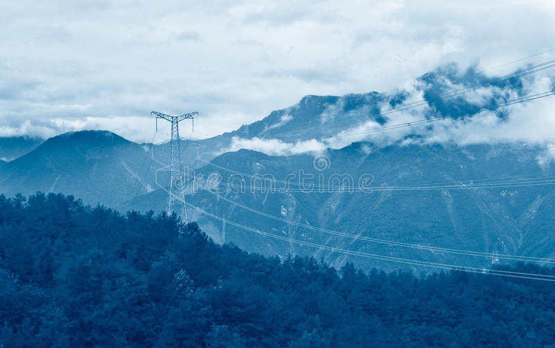 High-voltage power line royalty free stock images