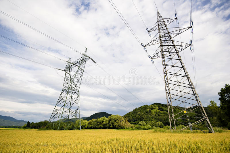 Download High voltage power lines stock photo. Image of conserving - 14979304