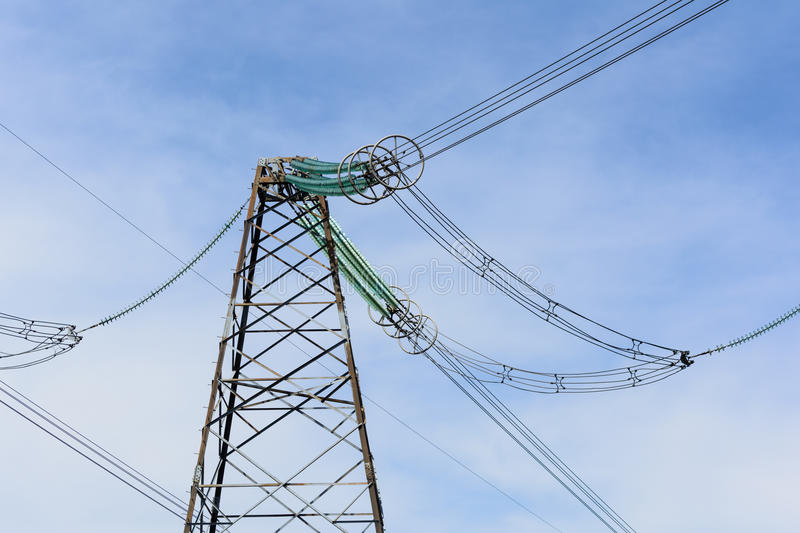 High-voltage power lines. royalty free stock photos