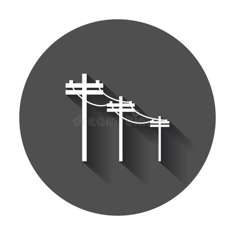 High voltage power lines. vector illustration