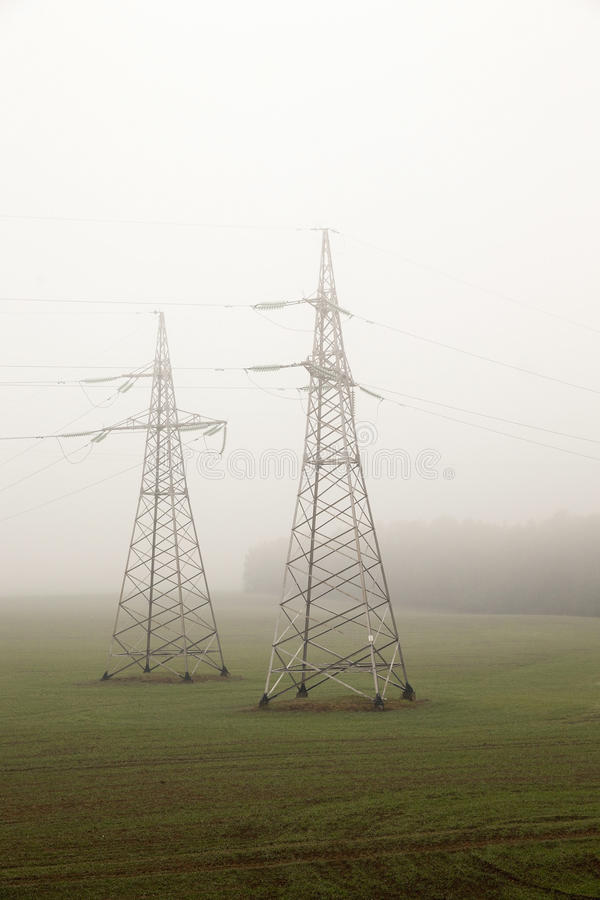 High-voltage power poles royalty free stock images