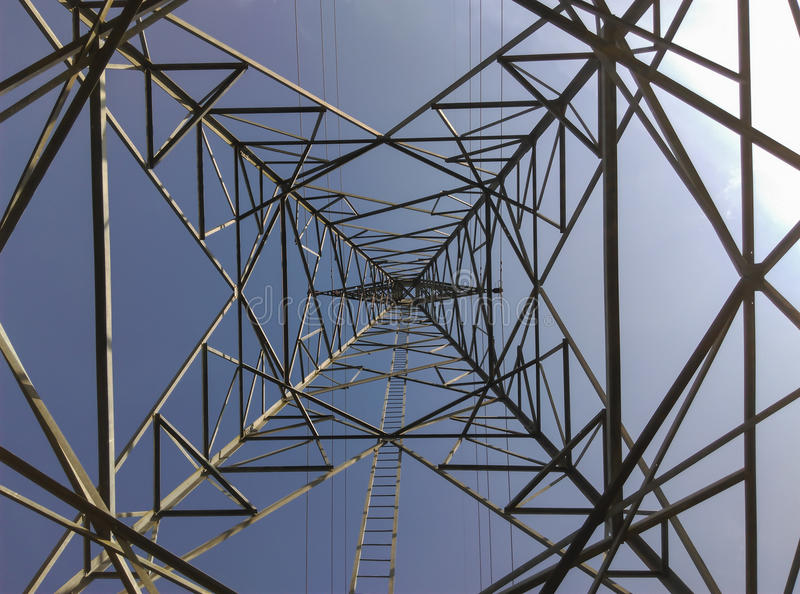 High voltage power pylons royalty free stock image