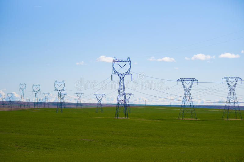 Download High voltage powerline stock photo. Image of structure - 14320710