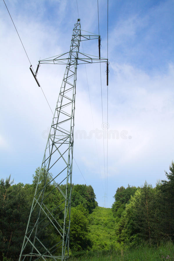 Download High voltage pylon stock photo. Image of blue, electronic - 34942740
