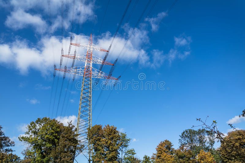 Download High voltage pylon stock image. Image of energy, clouds - 83707309