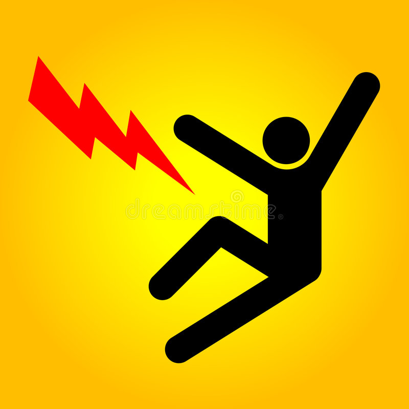 High voltage sign royalty free illustration