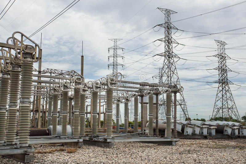 High voltage switchs stock images