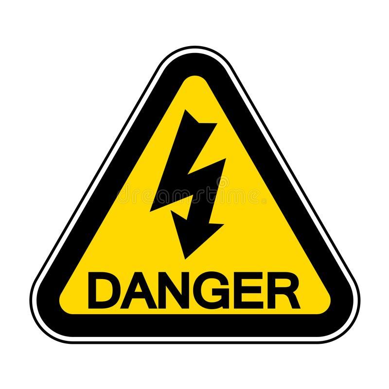 High Voltage Symbol Sign Isolate On White Background,Vector Illustration EPS.10. Danger, warning, icon, risk, hazard, safety, caution, electricity, power stock illustration