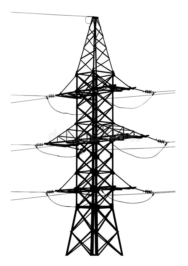 Download High voltage tower stock vector. Image of high, pylon - 23657629