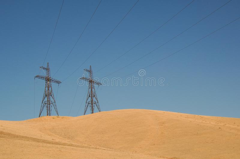 Post electric, insulated royalty free stock images