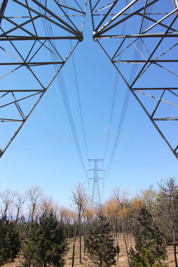 Download High voltage tower stock photo. Image of voltage, energy - 30255862