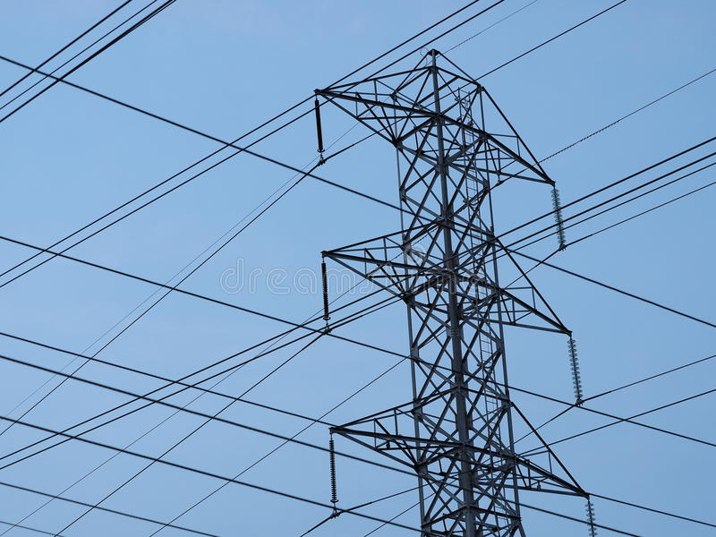 High Voltage Tower And Wires Stock Image - Image of electric ...