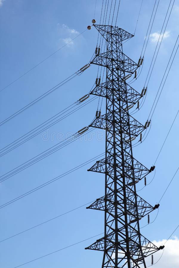 High-voltage towers.