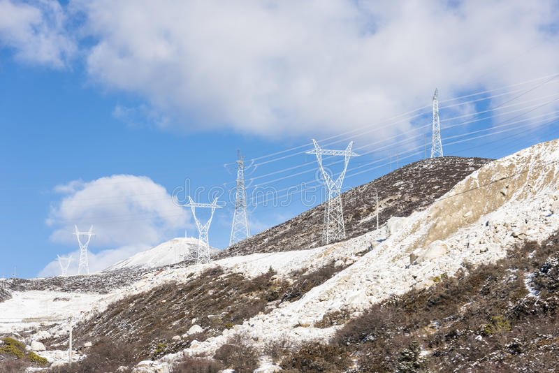 High voltage transmission line stock photos