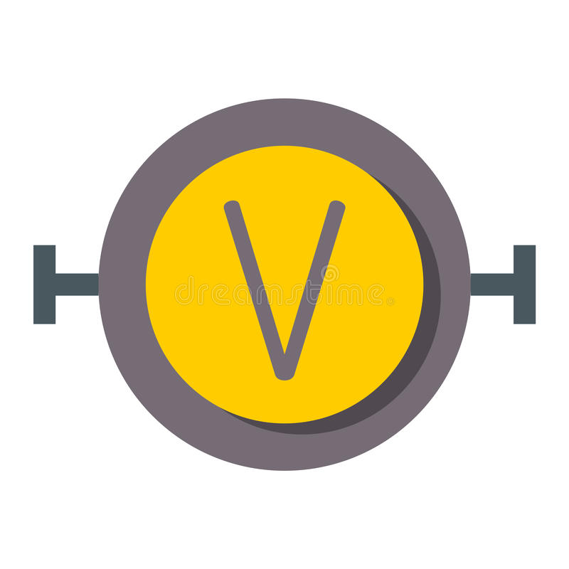 High Voltage Vector Icon On Rounded Square Button Attention Caution
