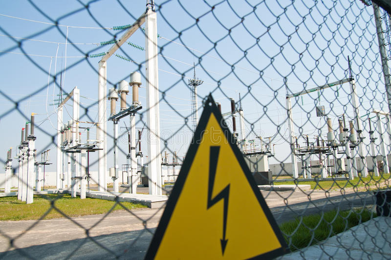 Download High voltage warning sign stock photo. Image of efficiency - 16852148