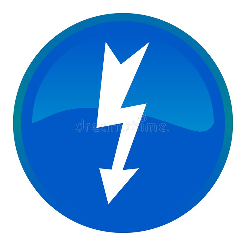 Download High voltage web button stock vector. Image of background - 8630929