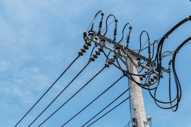 Download High-voltage wires stock image. Image of chaos, risk - 83703249